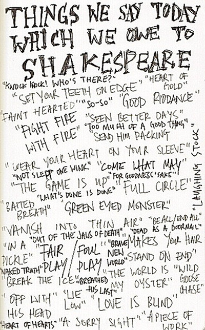 thanks to Shakespeare