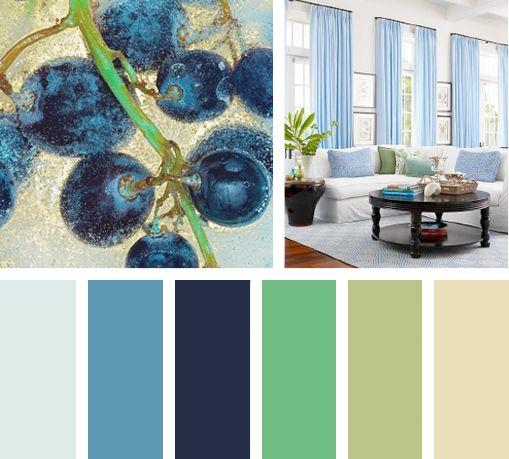 Sin+duda+una+paleta+de+color+fresca+y+relajante.+Azules+profundos+ ...