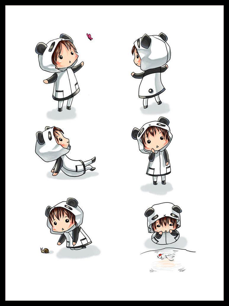 Panda Girls Awww Cute Cuties Chibi Panda Chibi Kawaii Chibi