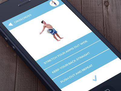 앱에 대한 적합성 평면 디자인 UI