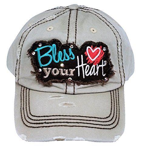 964f0700 Loaded Lids Women's Bless Your Heart Bling Baseball Cap in 2019 ...