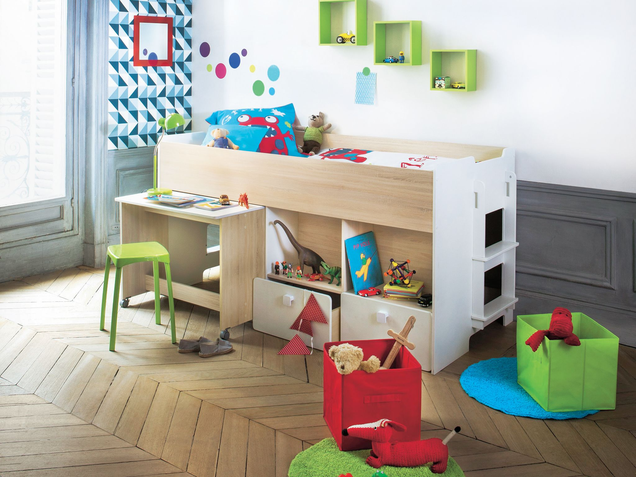 Deco Chambre Gamer Lit Combiné Bureau Game Baby Deco Kids Bedroom Kids