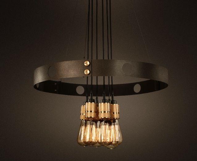 HERO LIGHT / bulbs through centre