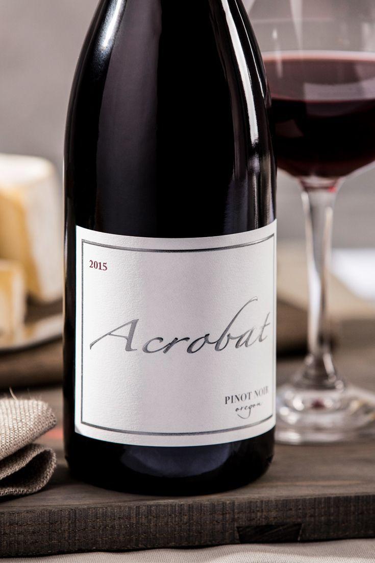 2015 Acrobat Oregon Pinot Noir – 90 Points  Casual, confident and
