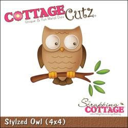 "@Overstock.com - CottageCutz Die 4""X4""-Stylized Owl - COTTAGE CUTZ: Cottage Cutz Dies. With design styles that are cute and adorable"