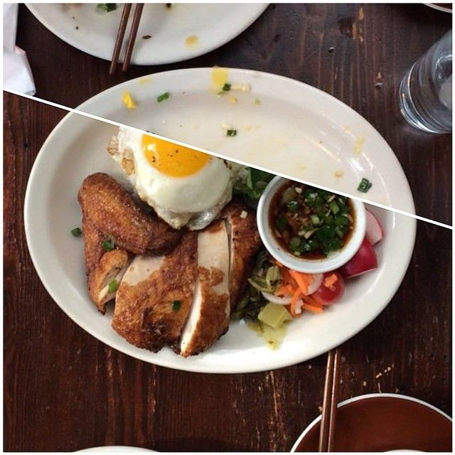 Rotisserie Chicken with broken rice and fried egg (Ba Bar - Seattle, WA)
