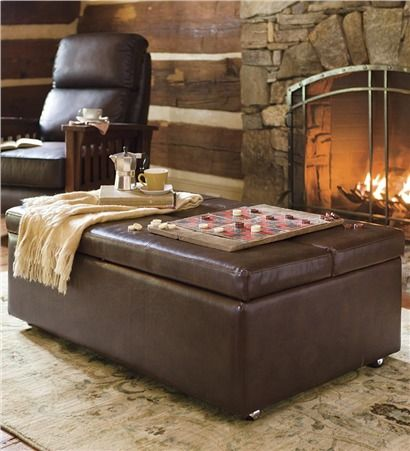 Oversized Leather Sleeper Ottoman Plow And Hearth