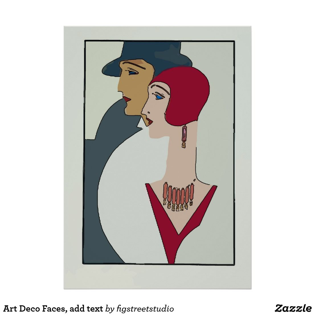 WELCOME Entry Way Art Deco Style Hats Vintage Poster Repo FREE SHIP in USA