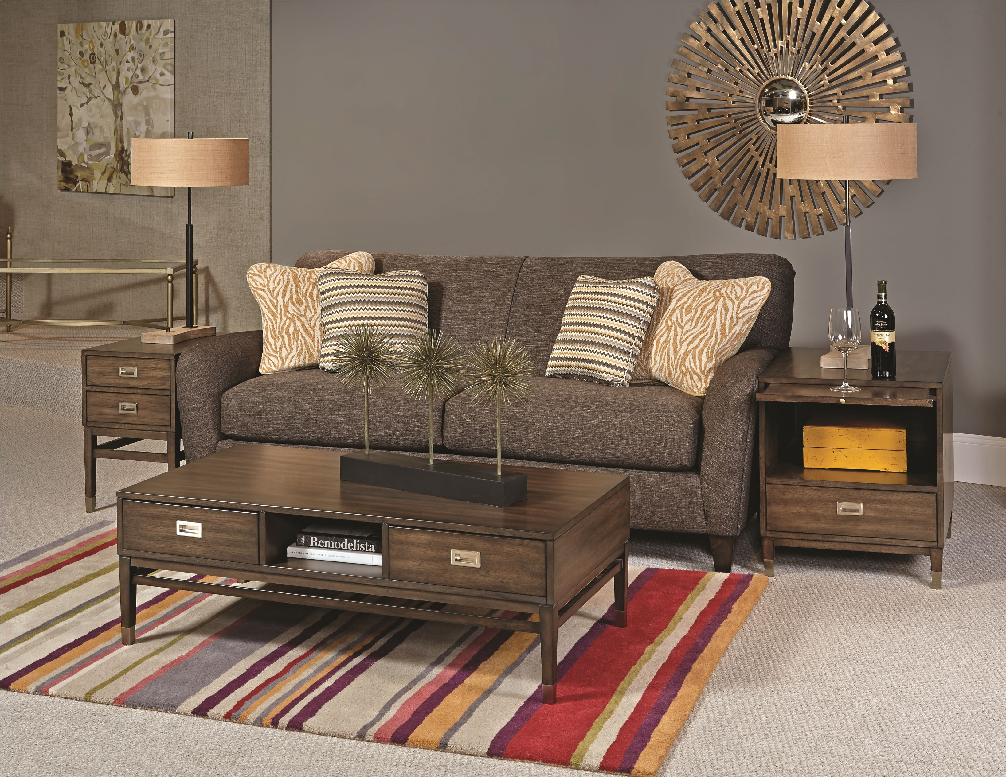 Hammary s Stratus collection incorporates updated mid century