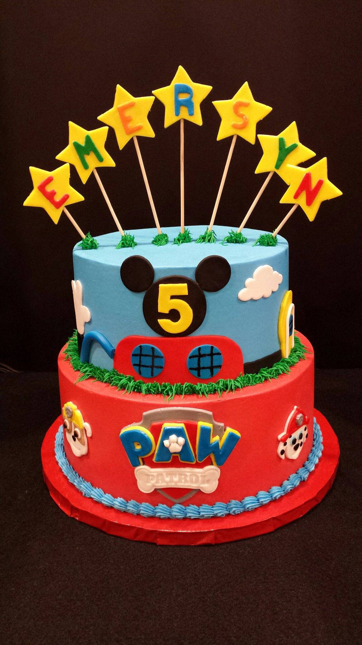 Mickey Mouse Clubhouse Paw Patrol Birthday Cake Paw