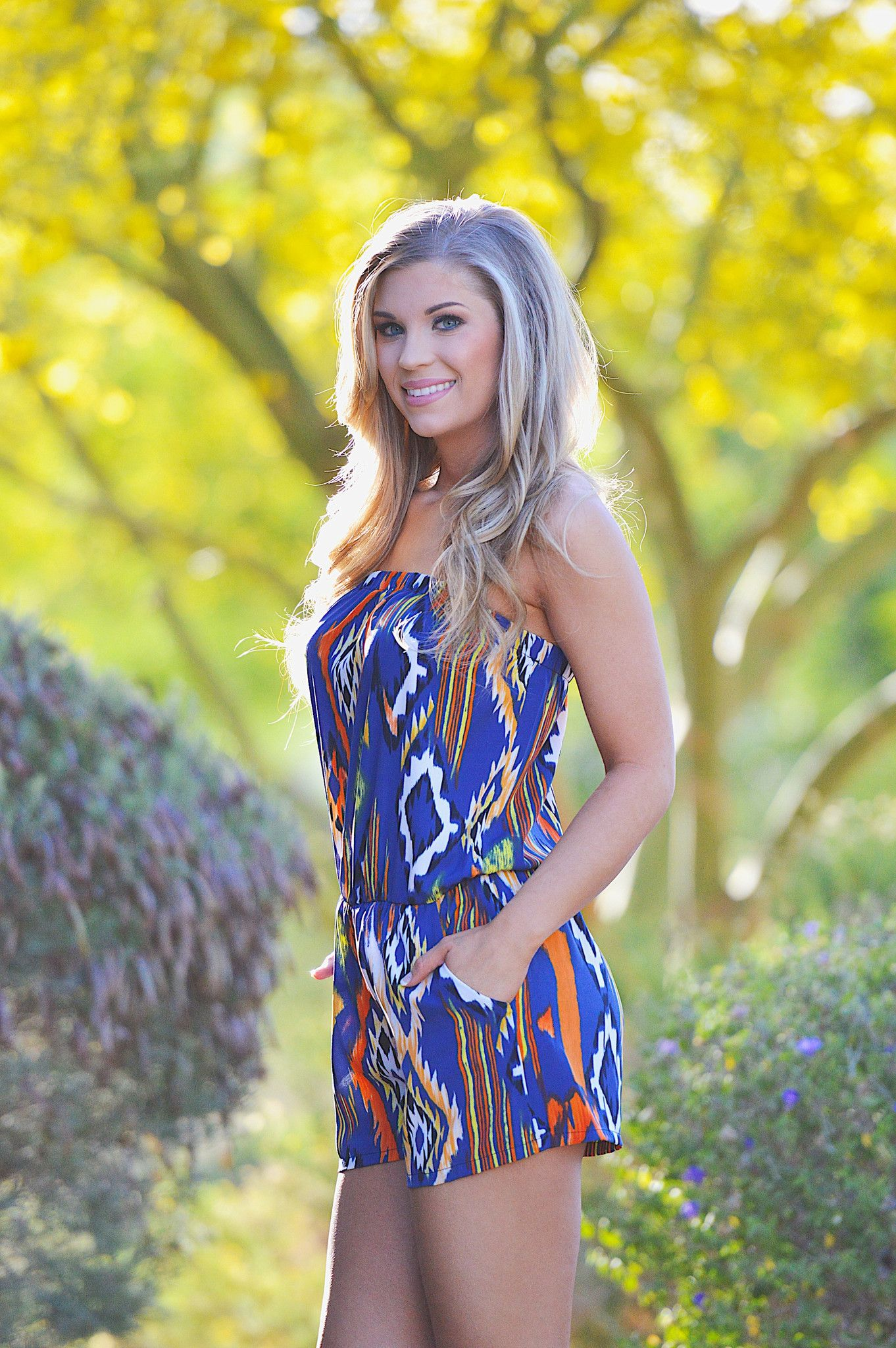 Best In The West Romper - Blue from Closet Candy Boutique
