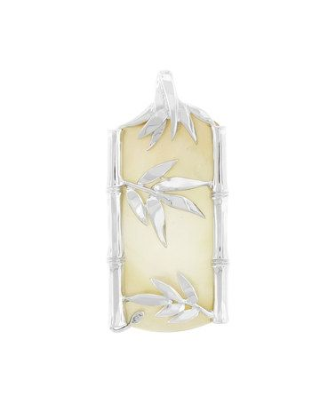 Love this Mother-of-Pearl & Sterling Silver Bamboo Leaf Pendant on #zulily! #zulilyfinds