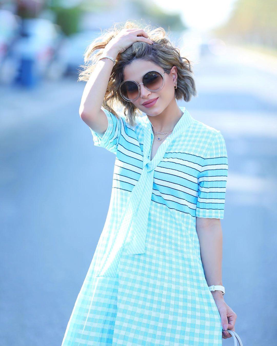 Pin By Sofijaolivera Design Team On Instagram Fashion Influencers Fashion Short Sleeve Dresses Instagram Fashion
