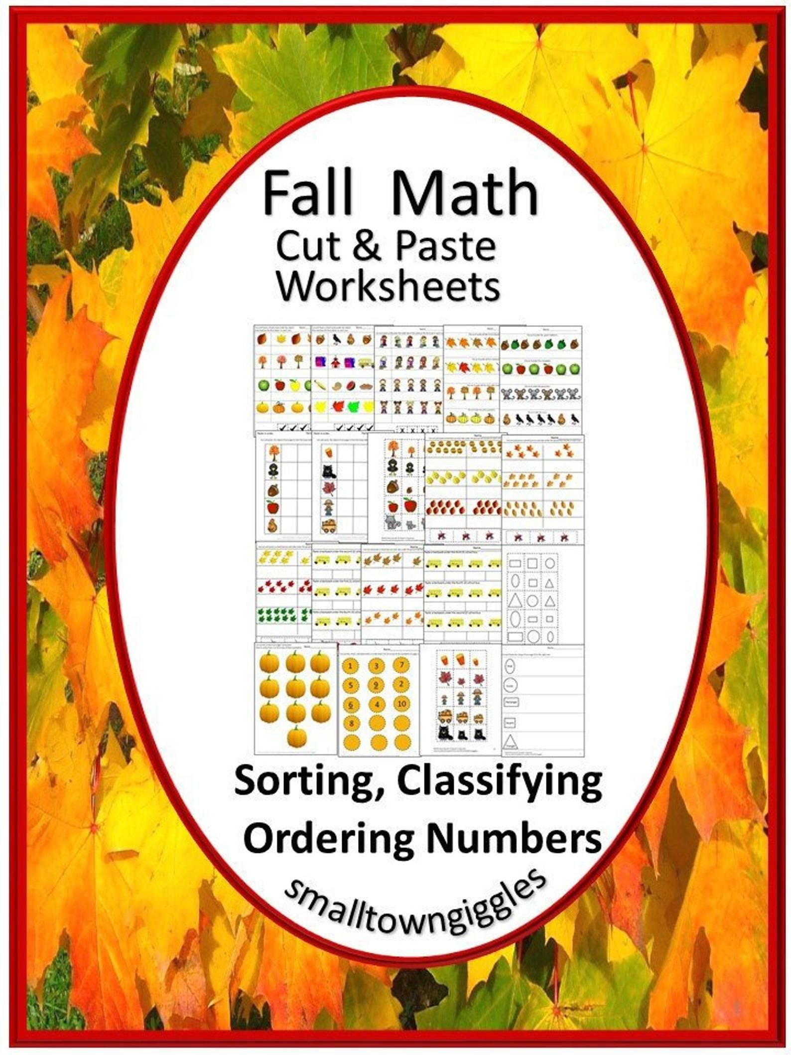 Fall Activities Sorting Printable Special Education Math