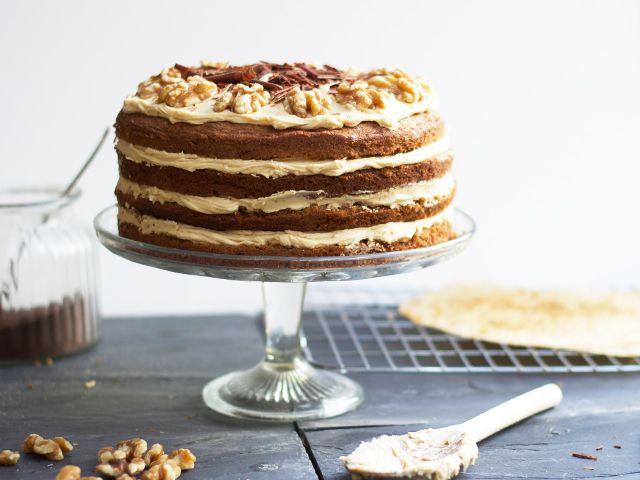 Coffee Walnut Layer Cake For Jasons Birthday Cider With