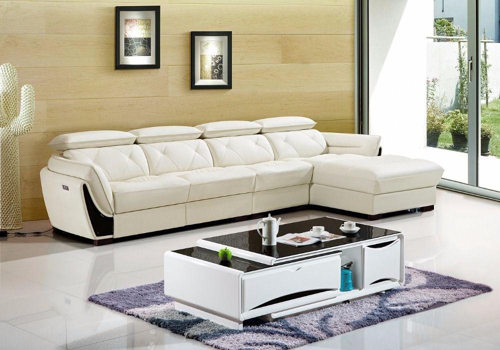 Herrliche Verstellbare Leder Sofa Sets Beliebter Liege Leder Sofa