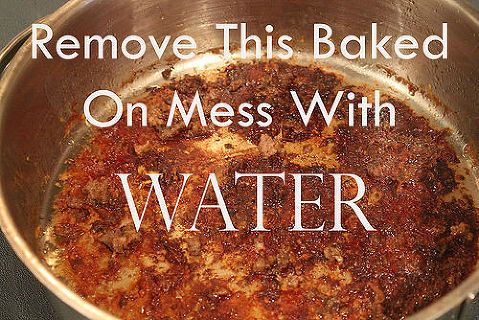 How To Remove Baked On Food With Water Cleanit Cleaning Tips Home Maintenance Repairs How To With Images How To Clean Skillet Cleaning Hacks