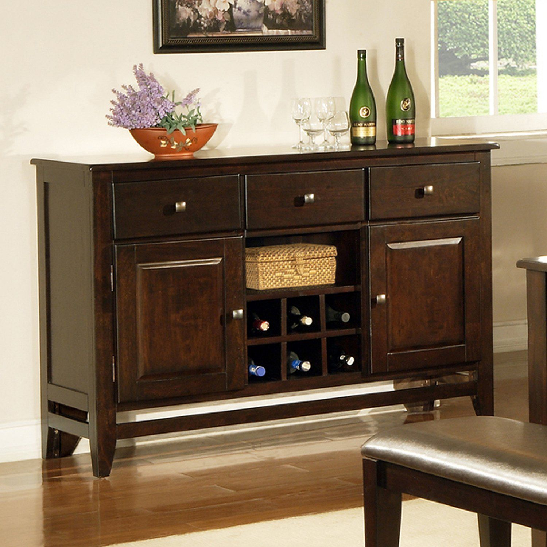 Weston Server Espresso Sam S Club Dining Room Buffet Table Decor Buffet Cabinet Kitchen Furniture