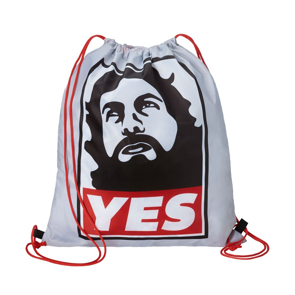 This drawstring bag is essential for any member of the YES Movement ...