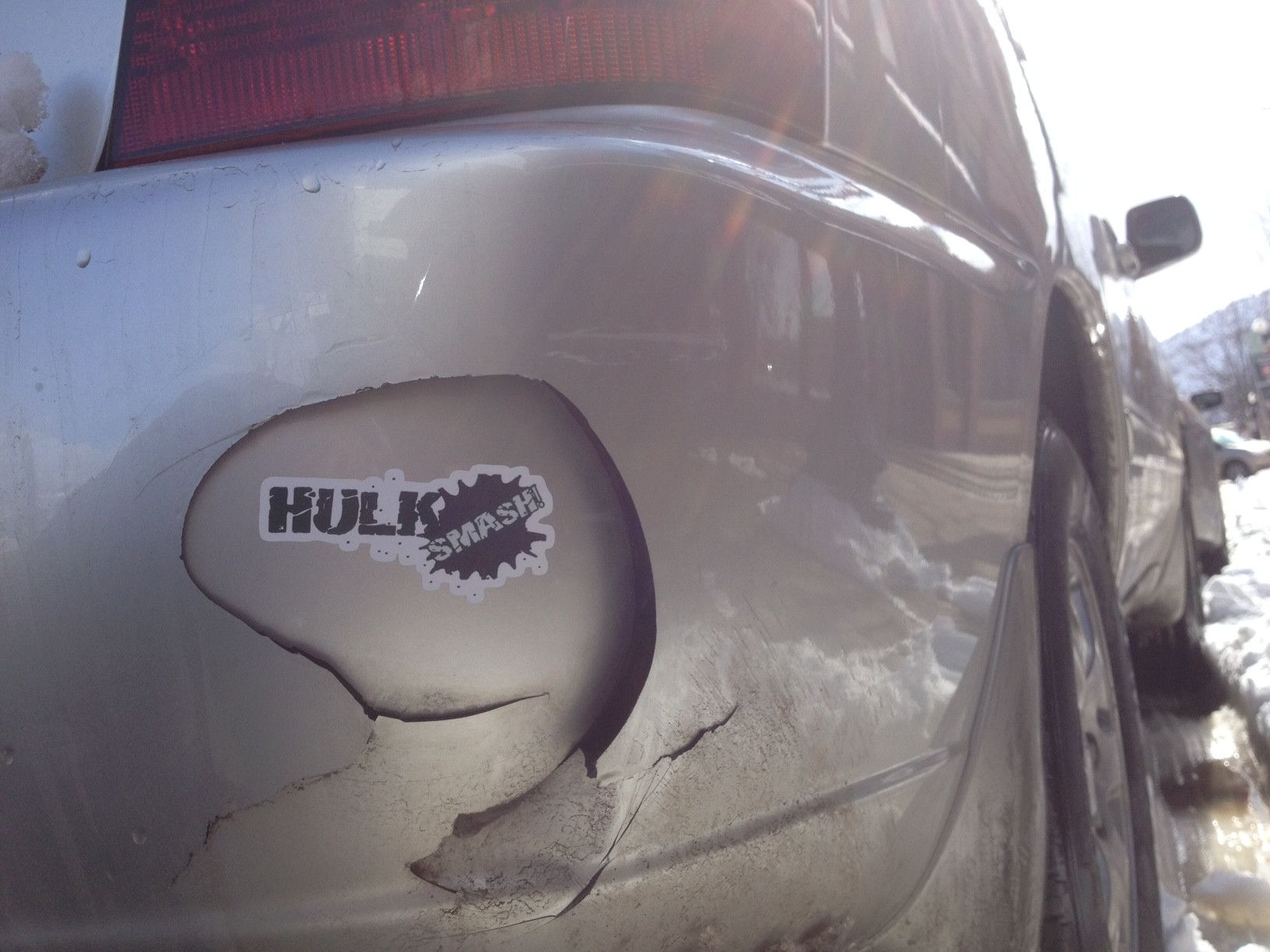 My Kind Of Temporary Bumper Band Aid Bumper Stickers Bumpers Hulk Smash [ 1224 x 1632 Pixel ]