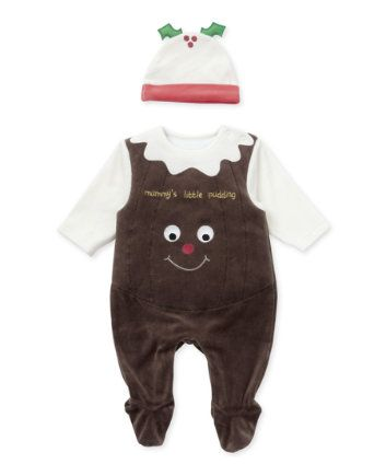 Mothercare Christmas Pudding Dress Up All In One - Mothercare Christmas Pudding Dress Up All In One Christmas Pudding