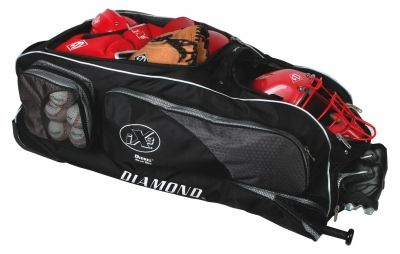 Diamond S Wheeled Diesel Gear Box Bag Features A Deep Main Compartment With A Wide U Shaped Opening For Gear Front Double Dec Baseball Gear Softball Bags Bags