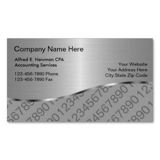 Accountant business cards business cards business and template accountant business cards fbccfo Image collections