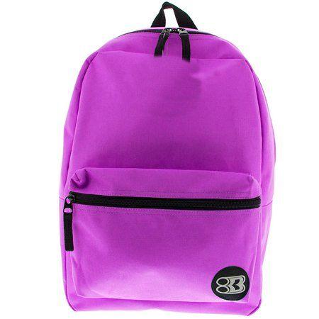 2054f32864 K-Cliffs Backpack Classic School Bag Basic Daypack Simple Book Bag 16 Inch Purple  Purple