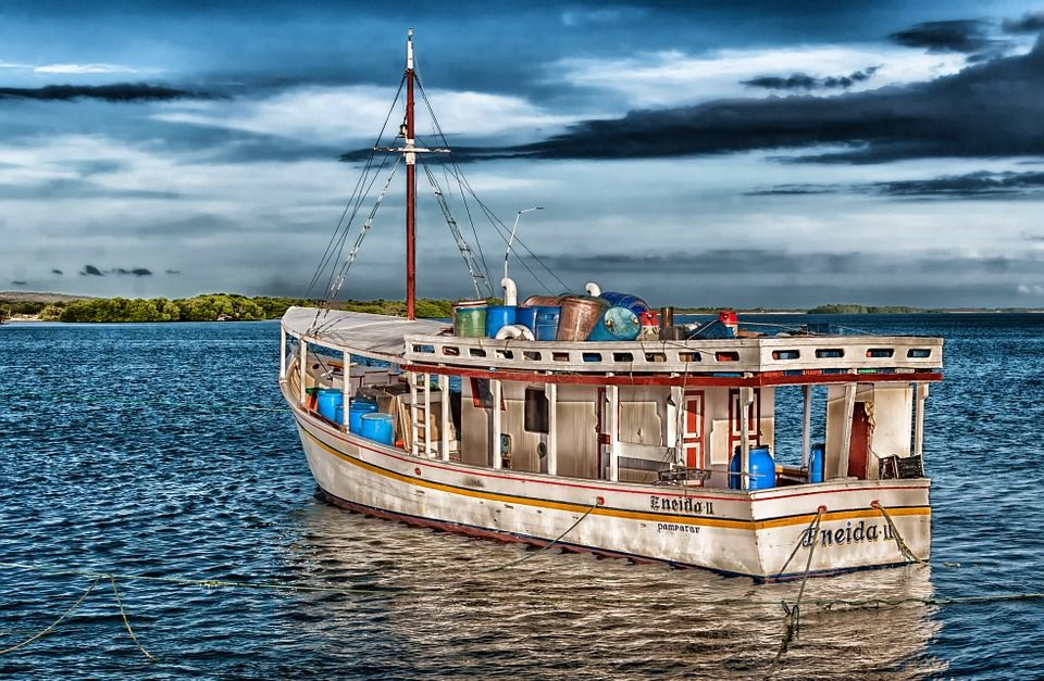 Chacacare, Boat, Bay, Harbor, Water, Hdr, Sky, Clouds