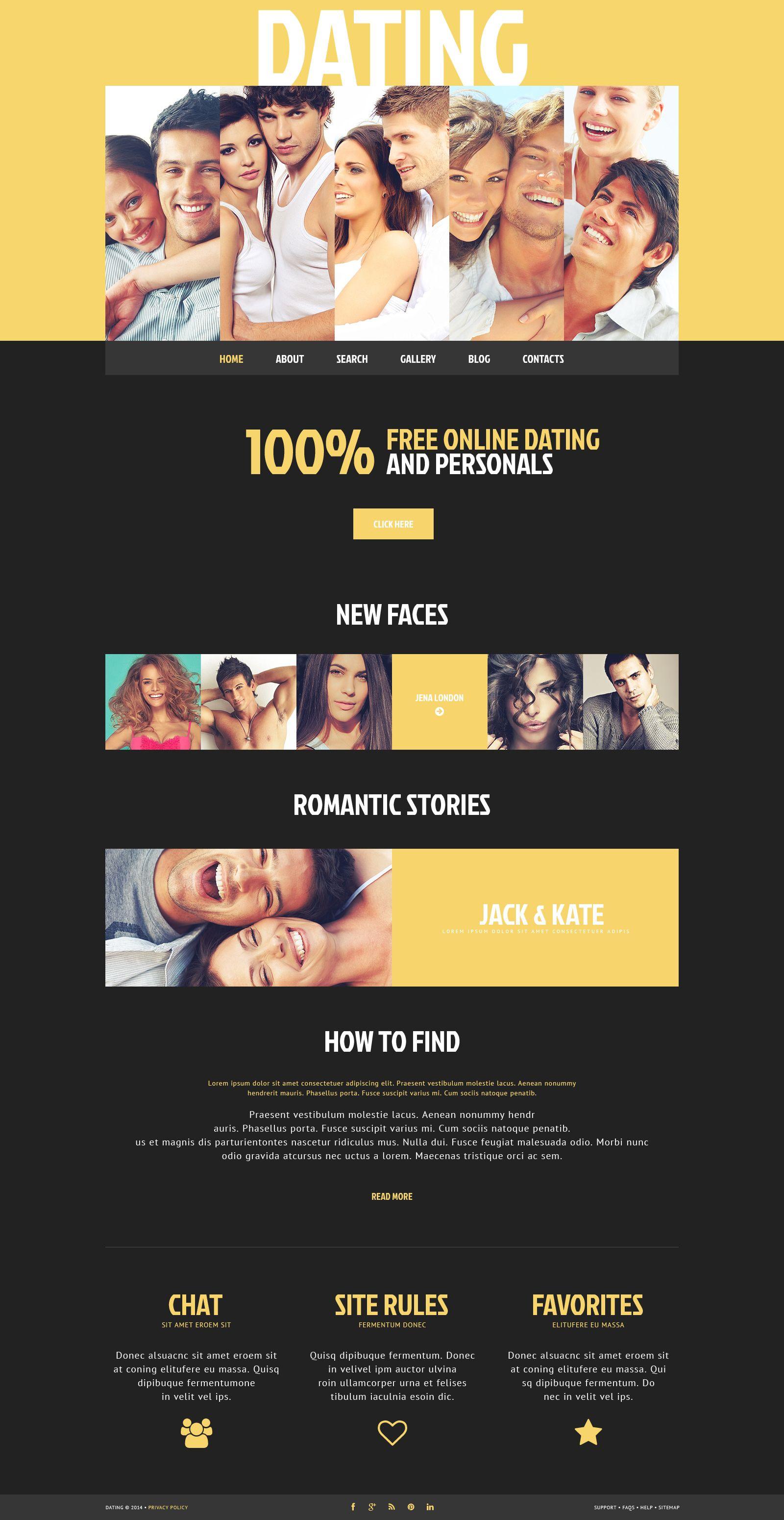 Dating Responsive WordPress Theme 49499 Dating, Website