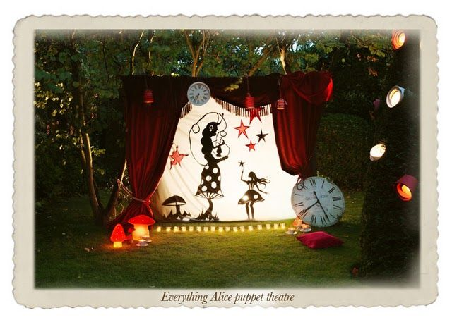 what a vignette for a party! so exciting... many different possible interpretations, but alice in wonderland IS divine