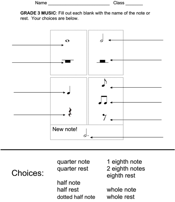 Printables Rhythm Worksheets 1000 images about music assessments on pinterest elementary assessment and first grade assessment