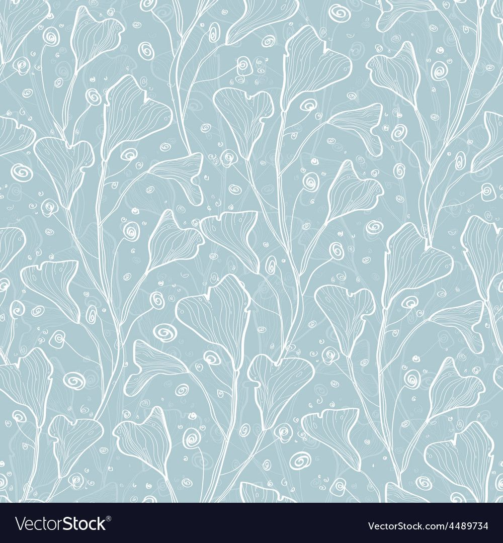 Silver leaves texture seamless pattern Royalty Free Vector ,