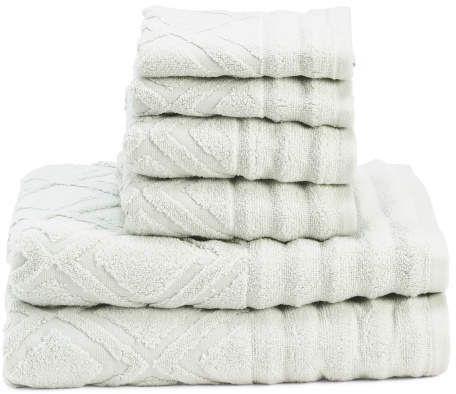 Made In India 6pc Prescott Towel Set Towel Set Towel Washing