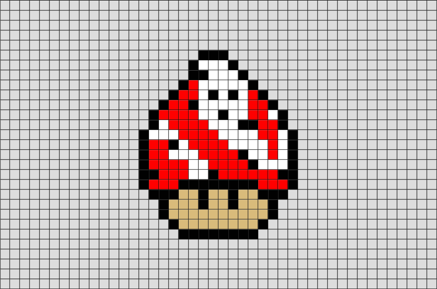 Mario Mushroom Ghostbuster Pixel Art Pixel Art Anime