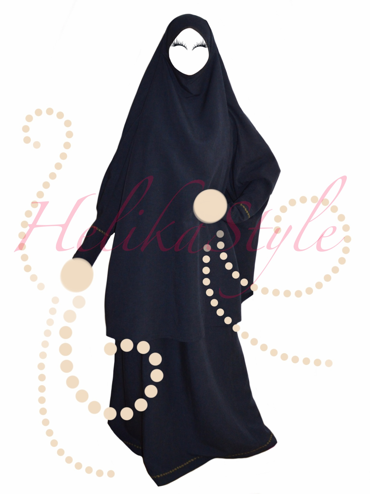 Real Hijab Look. Hijab (or khimar, jilbeb, jilbab, overhead abaya