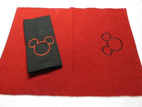 Mickey Mouse Kitchen Placemat and Cloth Napkin Set  by hpiehl, $14.99