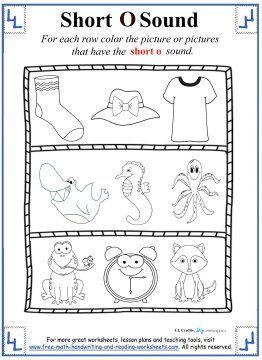 Number Names Worksheets : letter o activities kindergarten ~ Free ...