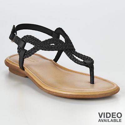 454a511982e9 black thong sandal   Kohl s