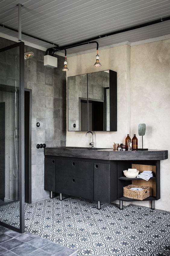 badkamer in industriele stijl | Badkamer | Pinterest | Bath, Room ...