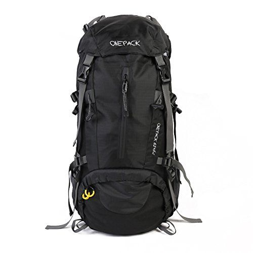 Color : Black Climb Backpack Outdoor Mountaineering Backpack Mens Backpack 70L Large Capacity Hiking Camping Bag Female Travel Backpack Lightweight Waterproof