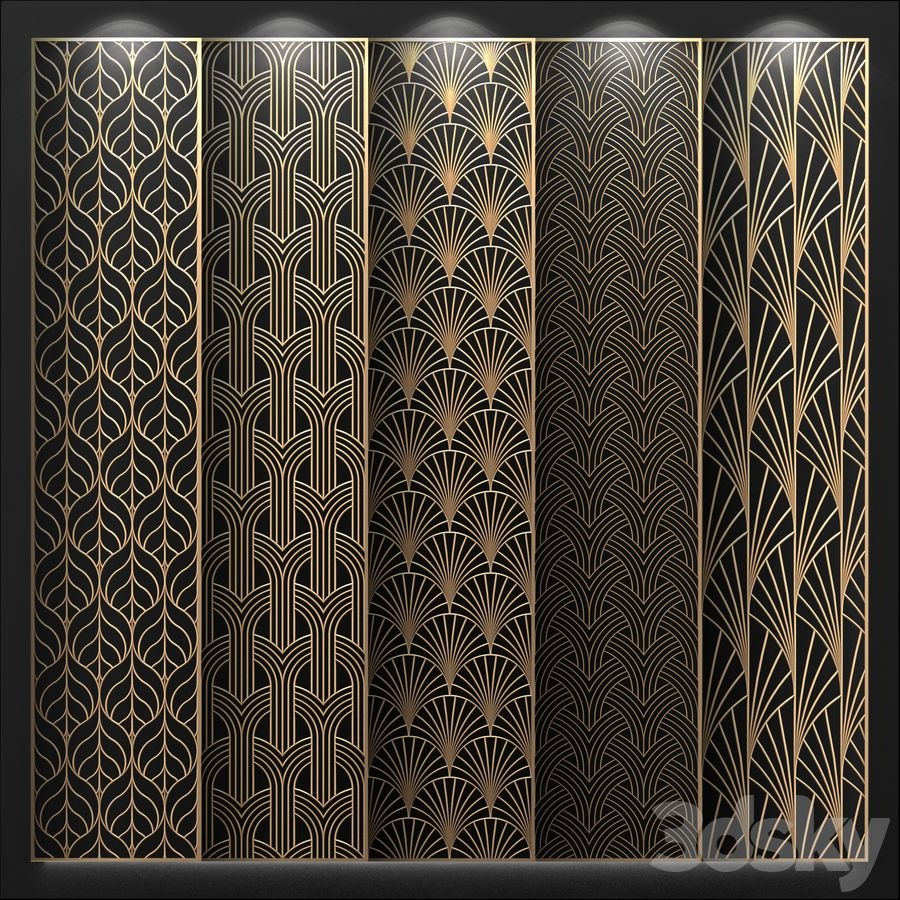 3d Models 3d Panel Decorative Panel In 2020 Jaali Design Decorative Panels Window Grill Design