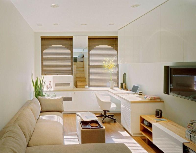 Schmales Wohnzimmer ~ Wohnzimmer mit heimbüro einrichtung pinterest wohnzimmer