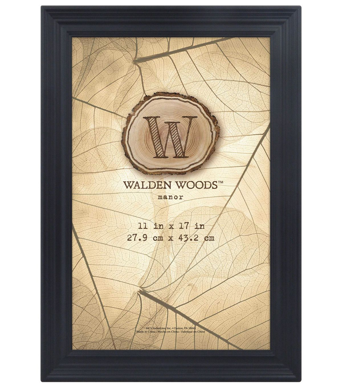Walden Woods Wall Frame 11x17 Black Frames On Wall Black Walls Frame