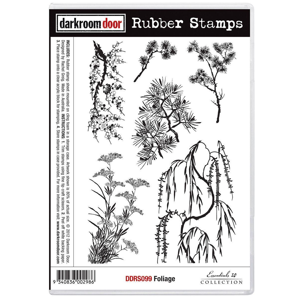 Darkroom door cling stamps