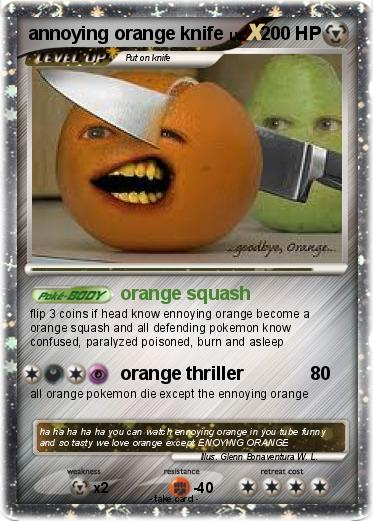 Pokemon Annoying Orange Knife In 2021 Annoying Orange Pokemon Annoyed