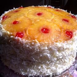 Pineapple Upside-Down.....very easy made it in one 13x9 pan with 20 oz can and its juice.