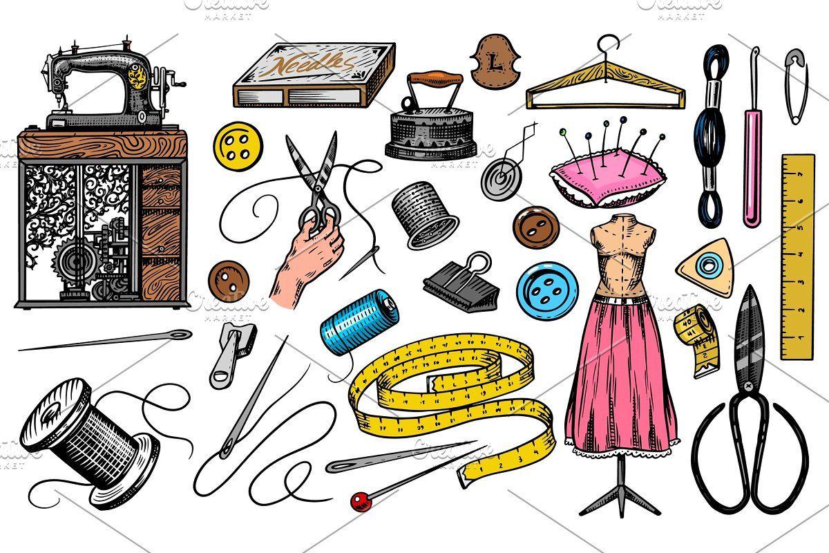 Set Of Gardening Tools Or Items Hose Reel Fork Spade