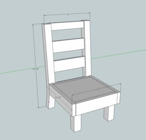 Free DIY Furniture Plans: How to Build a Toddler Sized ...
