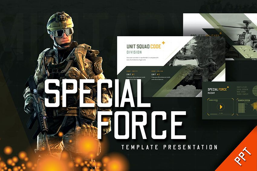 25 Best Free Military Army & War PowerPoint Templates for